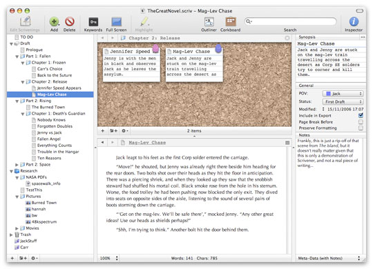 Scrivener's Desktop