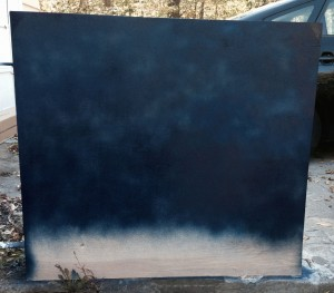 Step 7: Spray paint the backing board.